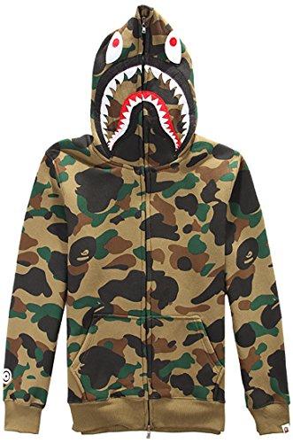 Imagen de emilyle chaqueta de impresión tiburón con  camuflaje borderie s,dark camo