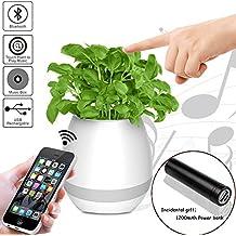 Maceta de la Música, Maceta inteligente de la música de Bluetooth con la Luz Colorida de la Noche del LED Luz Inteligente de la Planta de la Música del Tacto, Para la familia, oficina, Juguetes para niños