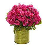 Best Nearly Natural Indoor Plants - Nearly Natural 8179-BU Geranium Artificial Plant in Metal Review