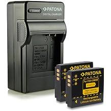 M&L Mobiles® | Novedad - 4in1 Cargador + 2x Batería como DB-60 DB60 con Infochip · 100% compatible con CGA-S005E Panasonic Lumix DMC-FS2 | FX01 | FX3 | FX07 | FX8 | FX9 | FX10 | FX12 | FX50 | FX100 | FX150 | LX1 | LX2 | LX3 -- BP-DC4 Leica C-LUX 1 | D-LUX 2 | D-LUX 3 | D-LUX 4 -- NP-70 Fuji FinePix F20 | F40 | F40fd | F45fd | F47fd