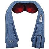 Masajeador de cuello, Konjac Masajeador para espalda y hombros Masaje Shiatsu cervical con calor,...