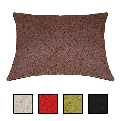 XXL-Wohlfühlkissen Sofakissen Dekokissen für Bett, Couch und Sessel. Auch als Louge-, Palettenkissen oder Kopfkissen. 5 Unifarben, Größe 60x80 cm. Farbe: (Braun)