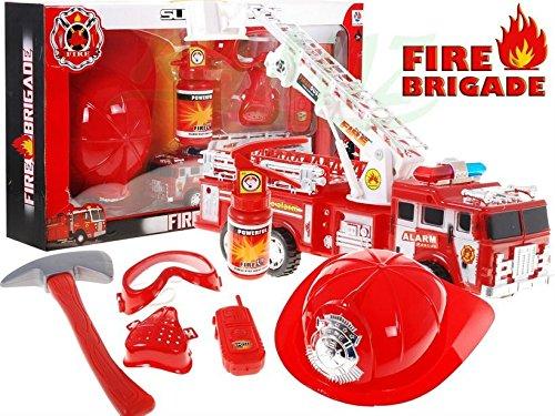Feuerwehr-Set 703 - Accessoires für das Feuerwehr-Kostüm - Feuerwehrauto und Zubehör