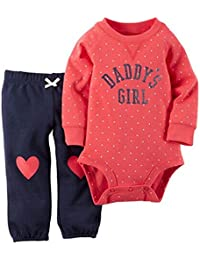 HENGSONG Combinaison bébé Mixte Manches Longue Vêtements pour bébé Fille 6-24 Mois, Body et Pantalon Ensemble