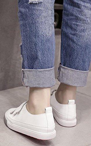 Bianco Da Scarpe Comfort Ginnastica Sneakers Scratch Women Solido Colore Piatta Aisun Heel wXvCHxqwz