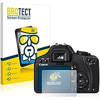BROTECT AirGlass Protector Pantalla Cristal Flexible Transparente para Canon EOS 450D Protector Cristal Vidrio - Extra-Duro, Ultra-Ligero, Ultra-Claro