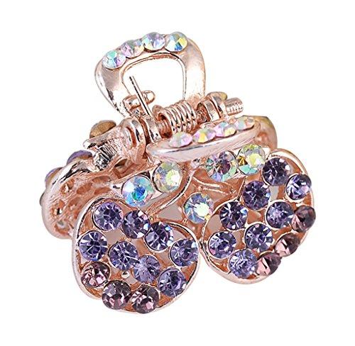 VLUNT Diamant Bogen Haarnadel Armband Mini Liu Haarschmuck Kopfschmuck Schmuck (Diamant-bogen-haar-clip)