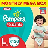 Pampers Pants Monthly Mega Box Baby Diapers, L 128 Pieces
