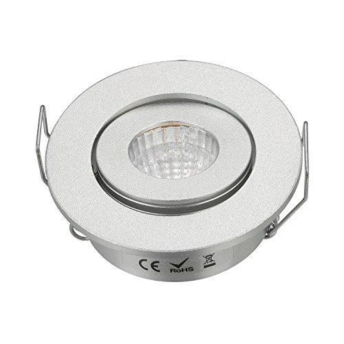 3W Mini verstellbar Cob Unterschrank Spot Einbaustrahler Loch Größe 40–45mm Silber (3 Loch Mini)