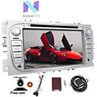 EinCar Free Backup Camera Double Din Android 7.1 Car Stereo for Ford Focus 2009-2012 In Dash Car Radio GPS Navigation support Capacitive Touchscreen Bluetooth WiFi AM/FM Radio Canbus Mirror Link