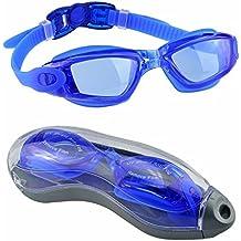 Gafas de Natación,EveShine Gafas para Nadar Unisex Anti goteo Protección UV Cristal Anti Niebla para Adultos Jóvenes, Niños