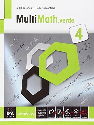 Multimath verde. Per le Scuole superiori. Con e-book. Con espansione online: 4