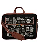 Funk For Hire Printed One Pocket Cotton Canvas Unisex 17 inch Laptop Bag
