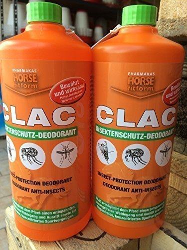 CLAC Fliegenschutz Deodorant Doppelpack 2 x 1000 ml (Ie 1000 Natürliches)