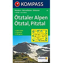 Ötztaler Alpen -Ötztal - Pitztal 43 GPS kompass