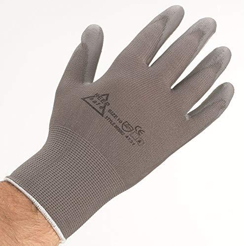 Keep Safe 903030080 - Guantes de trabajo, talla 8, tamaño mediano, color  gris