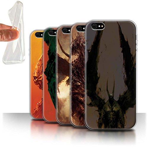 Offiziell Chris Cold Hülle / Gel TPU Case für Apple iPhone 6S+/Plus / Flügel von Nox Muster / Wilden Kreaturen Kollektion Pack 6pcs
