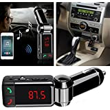 ICEBERG MAKERS.IN 3 In1 Dual Usb Wireless In-Car Fm Transmitter and Aux Cable For Car with Bluetooth Hands Free Kit And Usb Car Charger, Mp3 Player For Iphone, Andriod & Tablet Pc