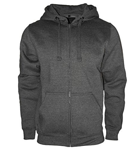 ROCK-IT Herren Zipper Hoodie Kapuzen Sweater Jacke Workerhoodie Pullover in Größen XS-5XL - Farben Schwarz Grün Navy und Grau Dark Heather