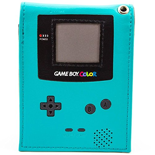 retro-game-boy-color-handheld-console-teal-id-card-bifold-wallet