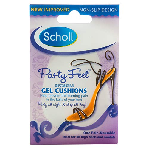 Scholl Party Feet Ultra Slim Invisible Gel Cushions, 1 Pair