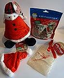 Paradise Pets CHRISTMAS DOG GIFT BOX WITH PLUSH XMAS CHARACTER 300G DELI VARIETY PACK XMAS HAT & CARD