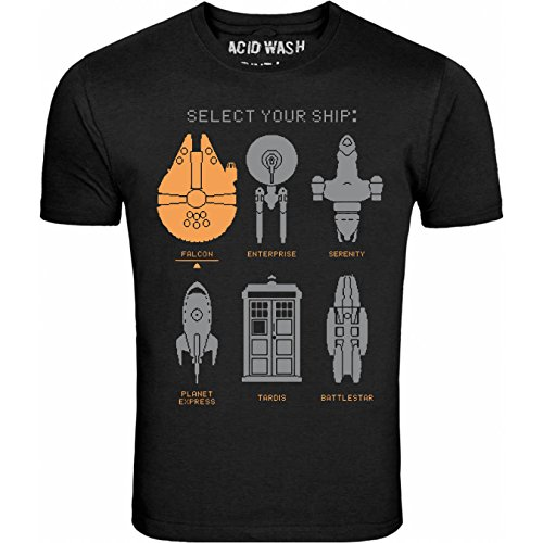 SELECT YOUR SHIP READY FOR BATTLE UNISEX SCIFI T SHIRT