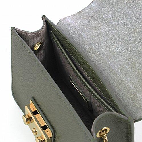 Furla Damen Metropolis Mini Crossbody Schultertaschen, 17x14x7 cm khaki (salvia)