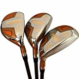 Japon Epron tr or club de golf hybride en bois Set + Housse en cuir (18, 21, 24 degrés Loft, Lot de 3)