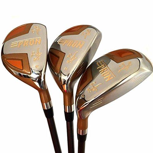 Japon Epron tr or club de golf hybride en bois Set + Housse en cuir (18, 21, 24degrés Loft, Lot de 3)