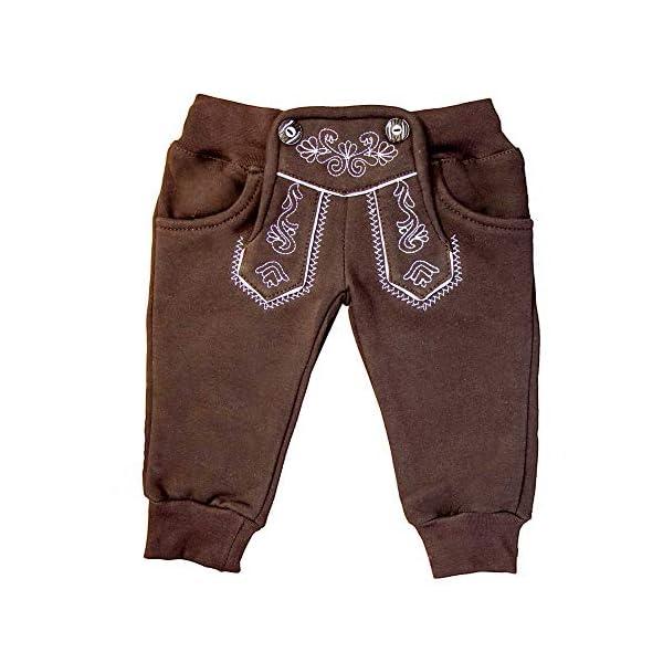 MS-Trachten Pantalón de Jogging Trachten de Invierno marrón bebé Abrigo de Fleece 1