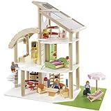 howa - Casa de muñecas con 30 piezas de mobiliario y 4 muñecas 7014