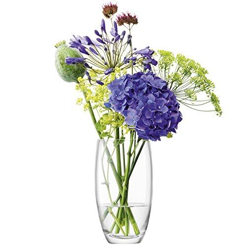 LSA International flores ramo de barril jarrón H20cm transparente,
