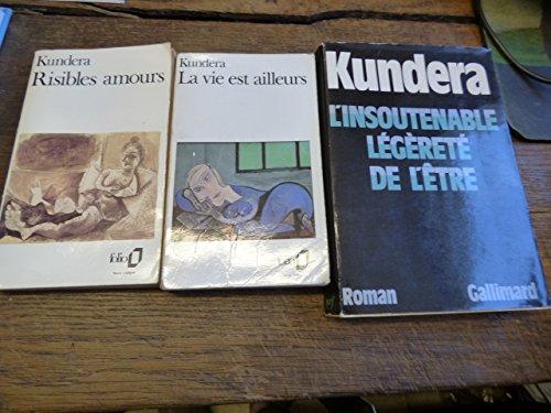 Lot de 3 livres de Kundera Risibles amours - la vie est ailleurs - l'insoutenable légèreté de l'être par kundera