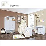 Babyzimmer Mexx in Weiß 11 tlg. mit 3 türigem Kl. + Textilset von Blossom Beige