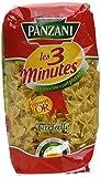 Panzani Pâtes Les 3 Minutes Farfalle 500 g - Lot de 6