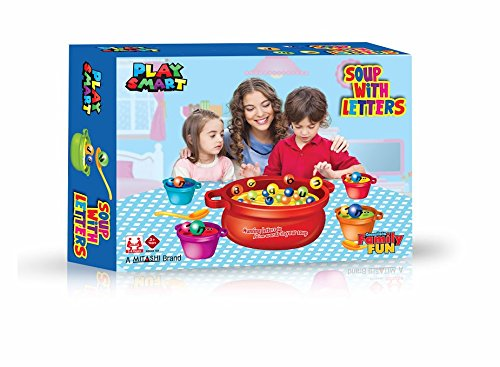 Playmart Soup with Letters, Red/Blue (Assorted)
