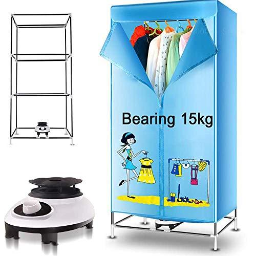 JXWWN Séchoir Portable électrique Séchoir 900W Grande Capacité 15kg Cadre en Fer à Trois Couches Séchoir Touristique.