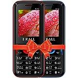 I KALL K12 Buy 1 Get 1 Dual Sim 4.57 Cm (1.8 Inch) Mobile Phone OFFER -Red & Blue