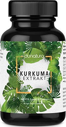 dunatura Kurkuma Extrakt Kapseln 90-Tages-Ration - höchste Qualität laborgeprüft aus Deutschland...