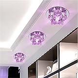GZEDG 3w Kristallgangdeckenstrahler LED Deckenleuchte Lampe D12cm (Color : Pink light-Concealed)