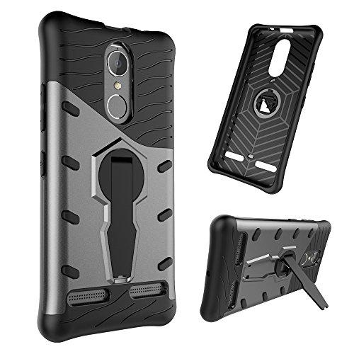 Power Shock-Resistant 360 Grad Spin Sniper Hybrid Case TPU + PC Kombi-Gehäuse mit Halter für Lenovo K6 / K6 by diebelleu ( Color : Black ) Black