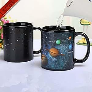 Useber Solar System Color Changing Mug Galaxy Color Change Mugs Heat Sensitive Sublimation Coffee Tea Colour change Cups Magic Mugs