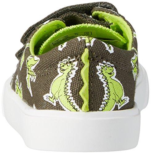 Clarks Tricer Roar, Scarpe da Ginnastica Basse Bambino Verde (Khaki)