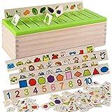 بازل تنمية مهارات مونتيسوري ألعاب خشبية تعليمية للأطفال