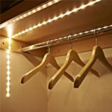friendGG❤️❤️LED Induktion Kabinett Weiches Lichtband Batteriebetrieben 1M LED Strip Light Wireless PIR Bewegungsmelder Kleiderschrank Schrank werden, LoftsLight, SchränkeLight, unter Betten Light (weiß)