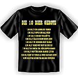 Die 10 Biergebote ... Gr XXL spaßiges Sprüche Tshirt Fb schwarz