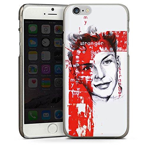 Apple iPhone 6 Housse Étui Silicone Coque Protection Frank Sinatra Dessin Homme CasDur anthracite clair