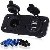 Double prises Adapteur USB de chargeur automobile d'allume-cigare 12 V