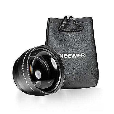 Neewer 52MM 2.2X Professionel Haute Definition Téléobjectif avec Tissu de Nettoyage en Microfibre pour NIKON D3000, D3200, D5200, D5300, D7100, D3, D4, D50, D60, D70s, D80, D600, D700
